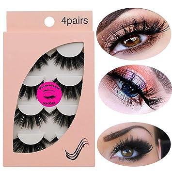317b28b5b43 DAODER Dramatic Mink Lashes Thick & Long False Eyelashes Handmade  Lightweight Soft Faux Lashes Strip Reusable