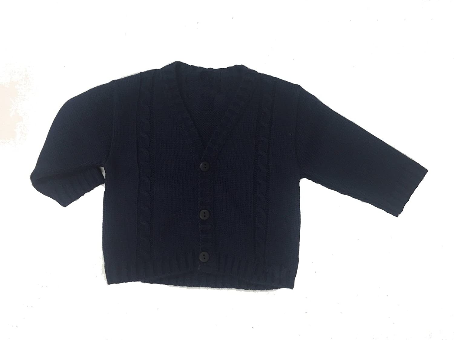 3f762c0b8 Dandelion Clothing Navy Blue Baby Boy Cable Knitted Sweater Cardigan  Outdoor Jumper: Amazon.co.uk: Clothing