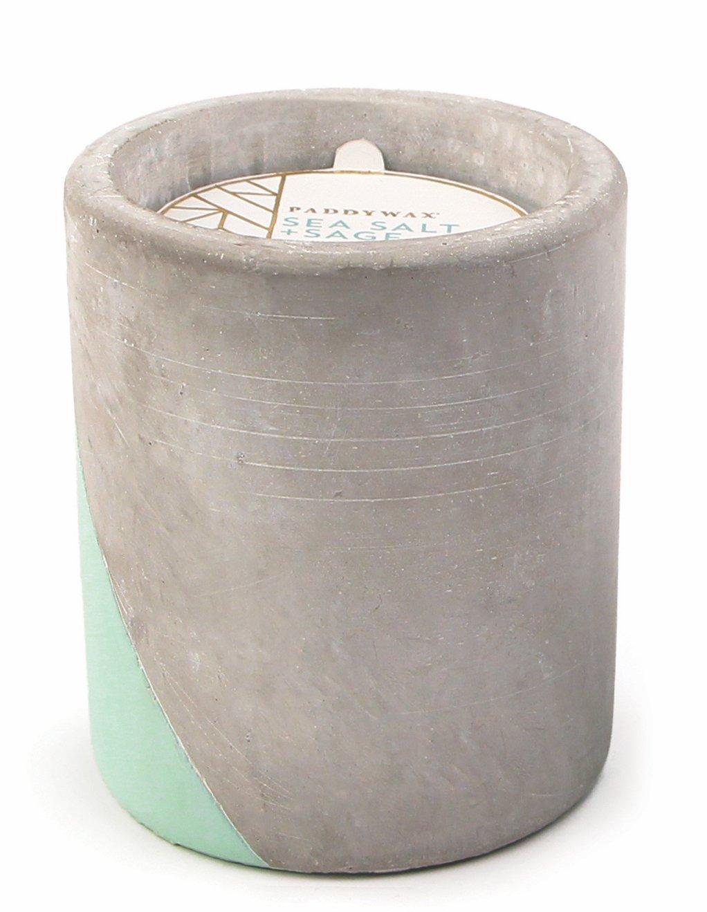 Paddywax Candles Urban Collection Soy-Blend Wax, 12oz, Sea Salt + Sage