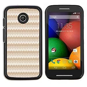 Caucho caso de Shell duro de la cubierta de accesorios de protección BY RAYDREAMMM - Motorola Moto E - Ondas del rosa rojo del arte del papel pintado Diseño Aleatorio