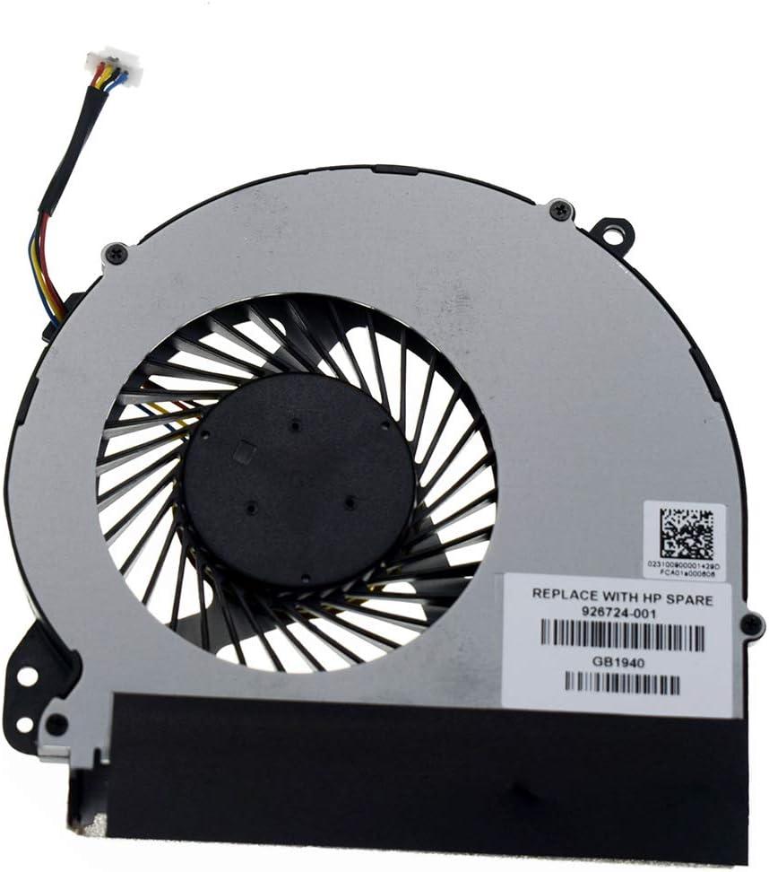 DREZUR CPU Cooling Fan Compatible for HP Notebook 17-BS 17-AK 17-X 17-Y 17-BS061st 17-AK061NR 17-X051NR TPN-M121 TPN-W129 Series Laptop Cooler 926724-001 856681-001 856682-001