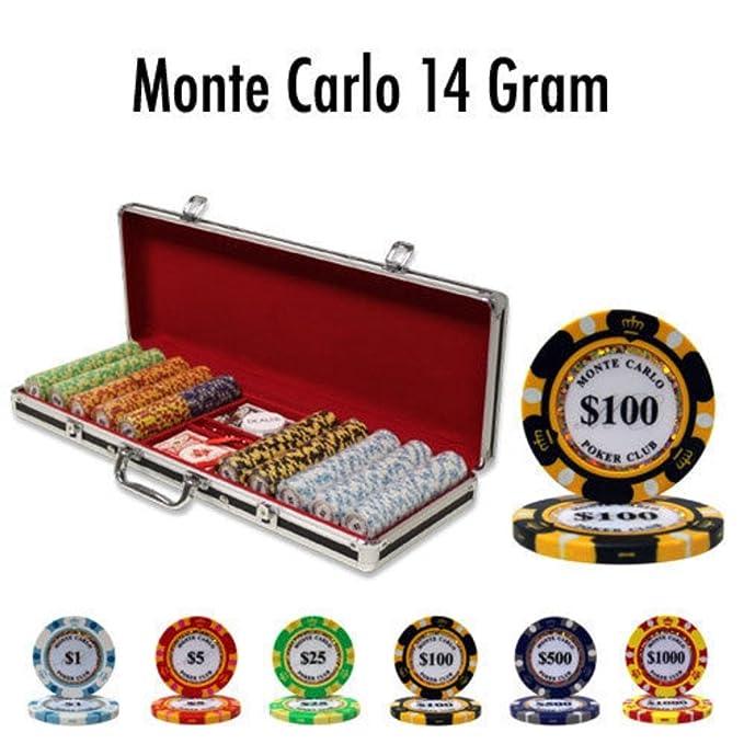 Amazon.com: Juego de 500 chips de póquer de arcilla Monte ...