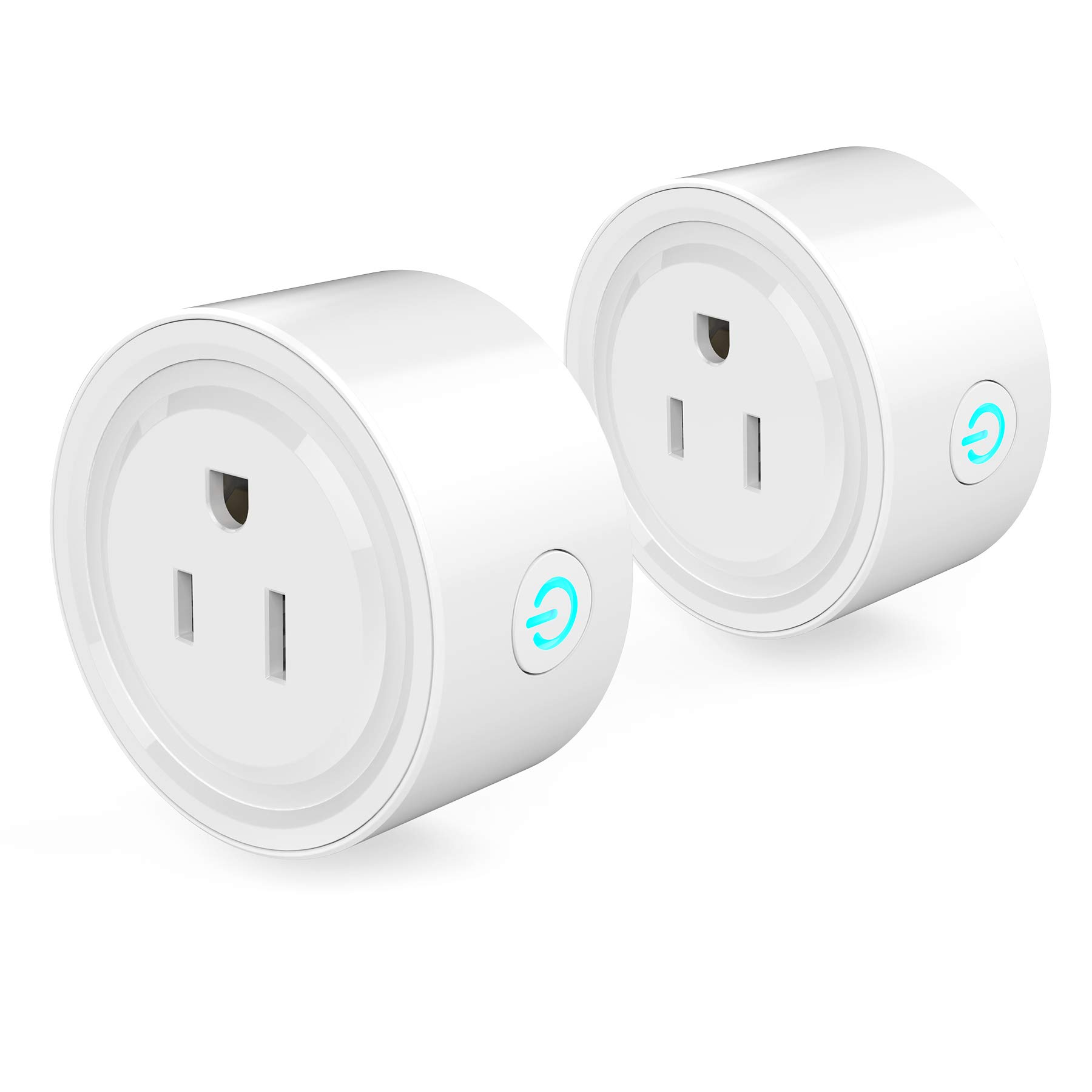 Koeson Smart Plug, Timing Switch Power Monitoring Smart Socket, No Hub Required, Control your Devices from Anywhere, Compatible with Alexa Echo and Google Home, White Fashion Design(2 Pack)