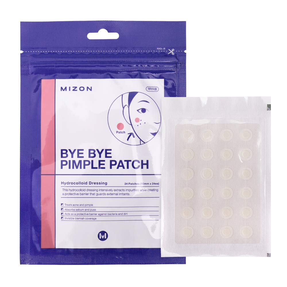 Mizon Bye Bye Pimple Patch for Acne Treatment Absorbing Cover, Transparent Blemish Spot, Hydrocolloid Facial Stickers, Acne Pimple Healing Patch, One Size (120 Patches, 5Pack x24ea) by MIZON