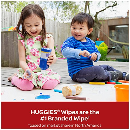 HUGGIES Simply Clean Fragrance-Free Baby Wipes, Pack of 9 Soft Packs, 648 Total Wipes