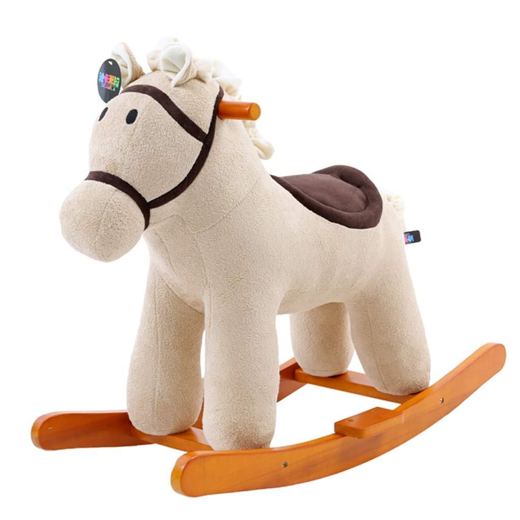 Cavallo a dondolo ZJING Dondolo a Dondolo culle per Bambini Giocattoli in Legno massello Bambino Sedia a Dondolo Regalo di Compleanno