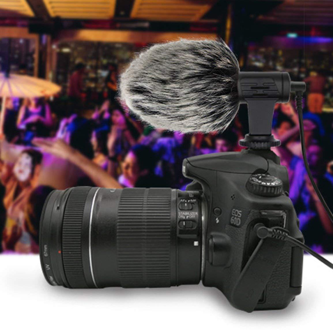 Micr/ófono port/átil m/óvil tel/éfono con c/ámara peque/ña Mic Fotograf/ía Mini 3.5mm Micr/ófono condensador para Smartphone