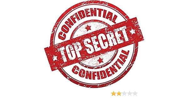 Amazon com: Zirni Top Secret Confidential Red Grunge Stamp