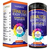 urine dipsticks - 10 Parameter Urinalysis Test Strips 150ct, Urinary Tract Infection Strips (UTI) Urine Test Strips Test Glucose, Ketone, pH, Protein, And More, for Those With Diabetes, Gallbladder, and Kidney Problems