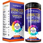 10 Parameter Urinalysis Test Strips 150ct Urinary Tract Infection Strips UTI Urine Test Strips Test Glucose Ketone pH Protein And More for Those With Diabetes Gallbladder and Kidney Problems