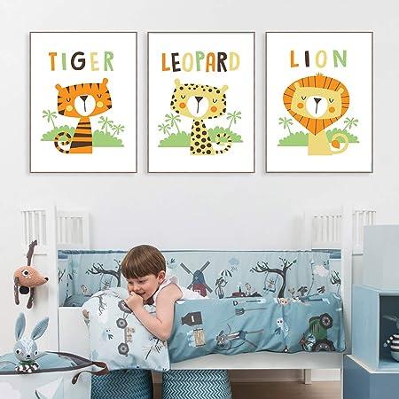 adgkitb canvas Impresiones Modernas Tigre León Leopardo ...