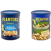 PLANTERS Deluxe Whole Cashews, 18.25 oz. Resealable Jar | Energizing Snack Roasted in Peanut Oil wit with Deluxe…