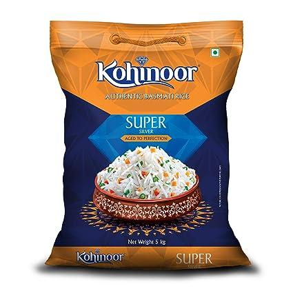 Kohinoor Super Silver Aged Basmati Rice, 5kg