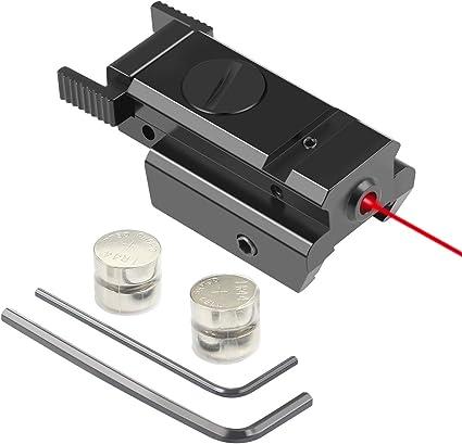 Pistol Adjust w//P Rail Mount Red Dot Laser Sight 50-100 Meters Range 635-655nm