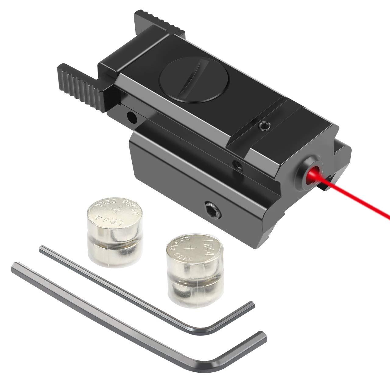 Twod Red Dot Laser Sight Scope 20mm Standard Weaver/Picatinny Rail for Pistol Gun Rifle by Twod