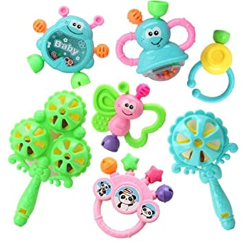 Amazon.com : Kangkang@ Baby Toys 3-6-12 Months Rattles Educational 0-1 Years Old Random Color