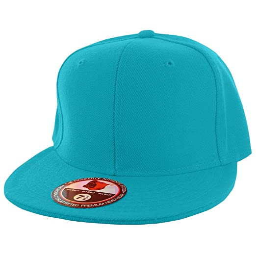 bd5ce942d3e Amazon.com  Pit Bull Plain Colors Flat Bill Visor Fitted Hat ...