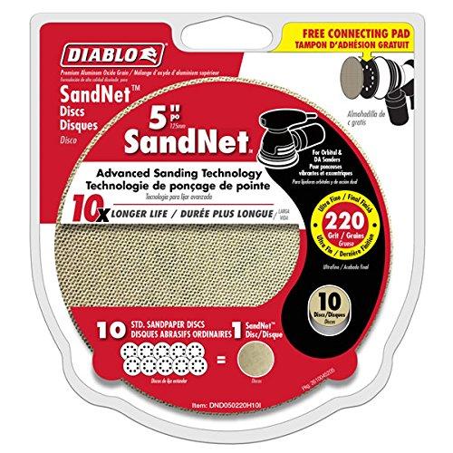 """Diablo SandNet 220 Grit 5"""" Sanding Disc - DND050220H10I"""