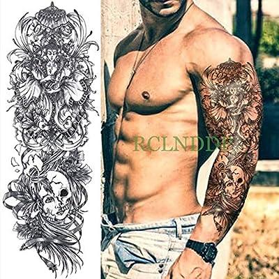 HXMAN 3 Unids Impermeable Tatuaje Temporal Pegatina Brazo Grande ...