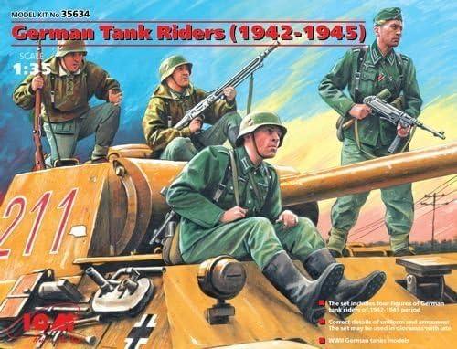 # 35634 by ICM ICM 1//35 German Tank Riders 1942-45 4 x Figure