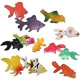 Onior 金魚のプラスチックモデル海の動物フィギュアパーティーギフトキッズ教育玩具セットカラフルな12のパック