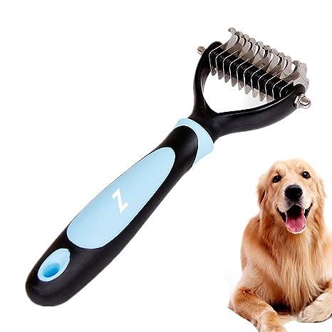 EJIAEN - Herramienta de Aseo para Mascotas de 2 Caras, para Gatos y Perros,