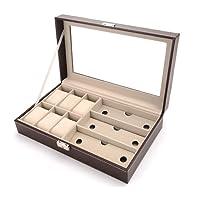DoubleBlack Scatola Porta Orologi per 6 Orologi & Custodia Occhiali da Sole porta 3 Occhiali da Sole