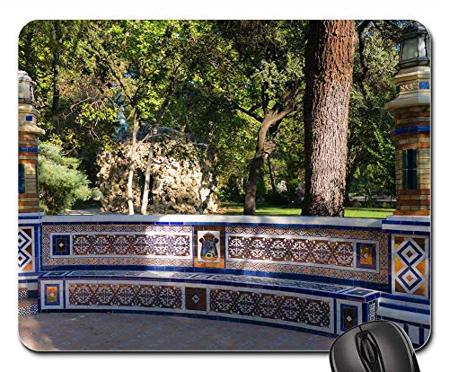 - Mouse Pads - Tiles Park Madrid Artistic Architecture Monument