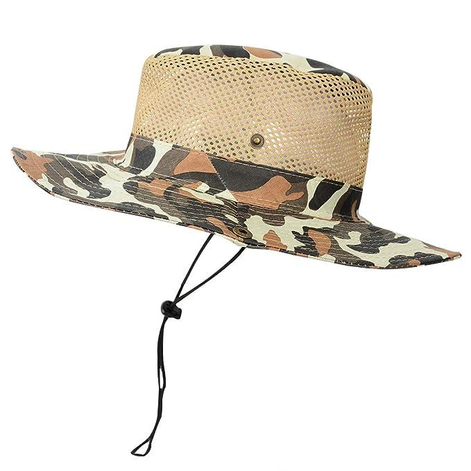 Outdoor Kinder  Tarnung großen  Hut  UPF50 UV-Sonnenschutz  Sonnenhut