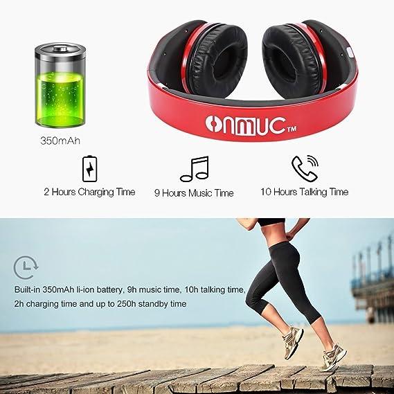 Inalámbrica Bluetooth auriculares Touch Control de gestos y plegable portátil Designe auriculares apoyo llamadas entrantes para auriculares de 3,5 mm ...