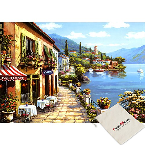 - Sticker Reatail,Overlook Cafe - Seong Kim - 1000 Piece Jigsaw Puzzle [Pouch Included]