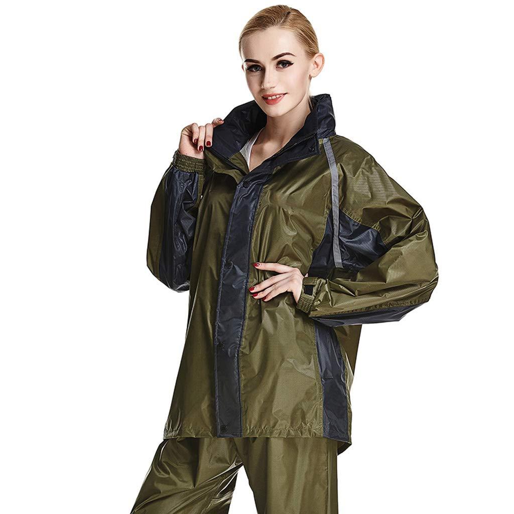 Draußen verdicken Regenbekleidung Erwachsenen Regenmantel Herren Windjacke Warme wasserdichte Damen Regenjacke Hosenanzug für Reisen Gehen Ski Golf