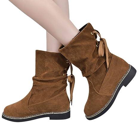 ... de Mujer Tacones Altos Señoras Otoño Invierno Zapatos de tacón Cuadrado de Cristal Tobillo Navidad Botas Cortas Botín: Amazon.es: Ropa y accesorios