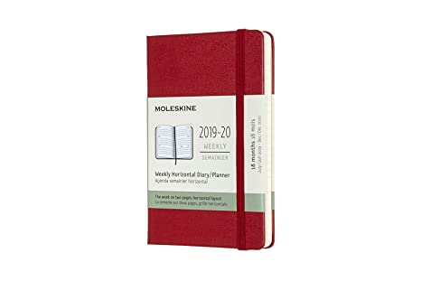 Moleskine Classic 18 Month 2019-2020 Weekly Planner, Hard Cover, Pocket (3.5