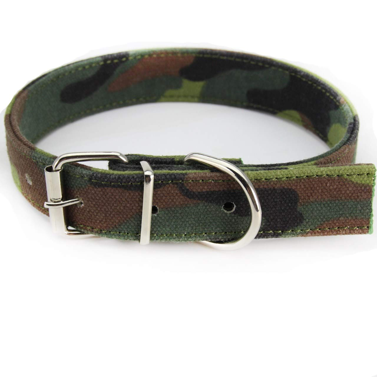 2.5×28-36cm Pet Online Pet Collar Large and Medium Size Dog Camouflage Durable Dog collar2.5×28-36cm