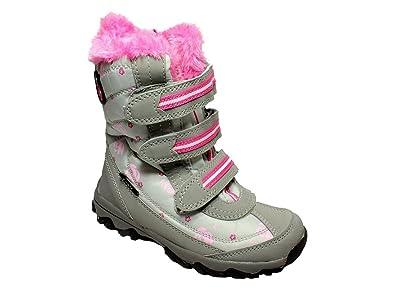 a7fd694ca3b52f Kinder Winterstiefel Warmfutter Mädchen Winterschuhe Stiefel Boots Grau 29