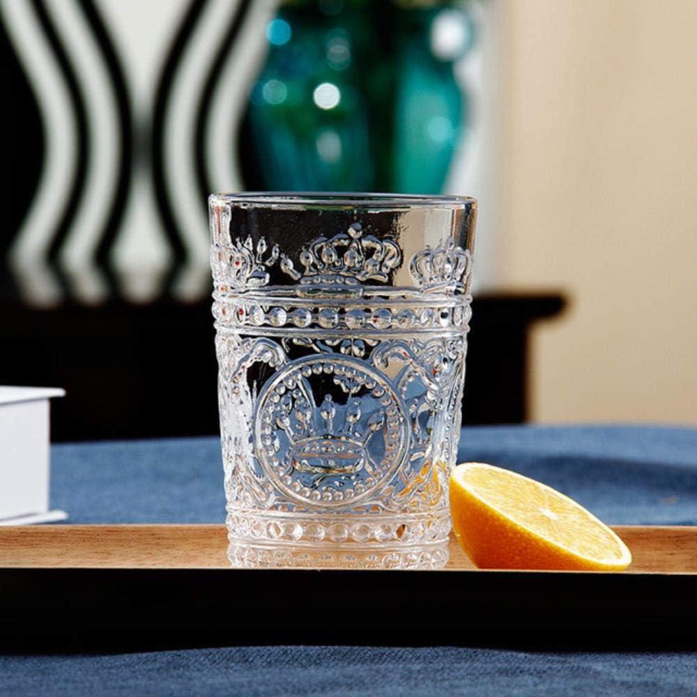 LKJHG - Vaso de cristal para cerveza, Corona imperial transparente., 200 ml