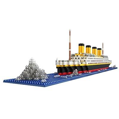 1860 Piezas Juegos de Bloque Gran Titanic Building Blocks Envío Asamblea Niños: Juguetes y juegos