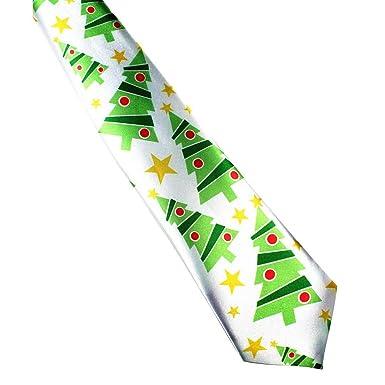 DF-ES Imprimir Corbata de Navidad Corbatas de seda de moda para ...