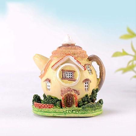 ZAAQ Regalos Adornos Decorativas para La Casa Tetera Casa Miniatura Jardín de Hadas Miniaturas Micro Moss Paisaje DIY Terrario Accesorios Figuritas: Amazon.es: Hogar