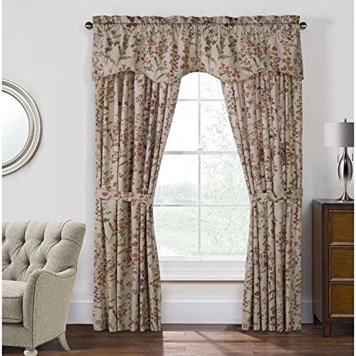 - Commonwealth Habitat Rockport Cotton Pole Top Curtain Panel Pair Linen 100 x 63 Each Panel 50'' Wide