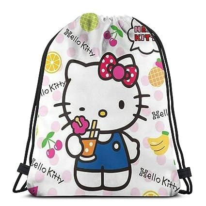 8c98bbfb8 Amazon.com: MPJTJGWZ Classic Drawstring Bag-Cute Hello Kitty Gym Backpack  Shoulder Bags Sport Storage Bag for Man Women: Home & Kitchen