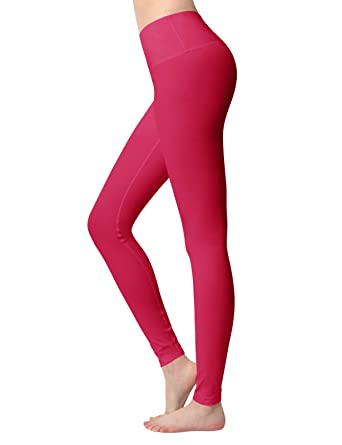 4dc4f98d699d ACTICLO Women s Yoga Pants High-Waist Tummy Control w Hidden Pocket Fuchsia  X-Small