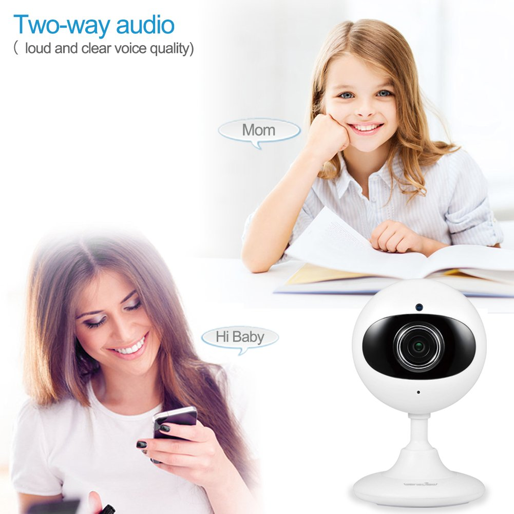 Wansview Home Security Camera, 720P WiFi Wireless IP Camera for  Baby/Elder/Pet/Nanny Monitor Two-Way Audio & Night Vision K2-2 packs (white)