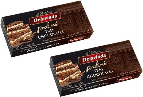 Delaviuda - Pack incluye 2 Turrón tres Chocolates 300gr - Calidad suprema: Amazon.es: Alimentación y bebidas