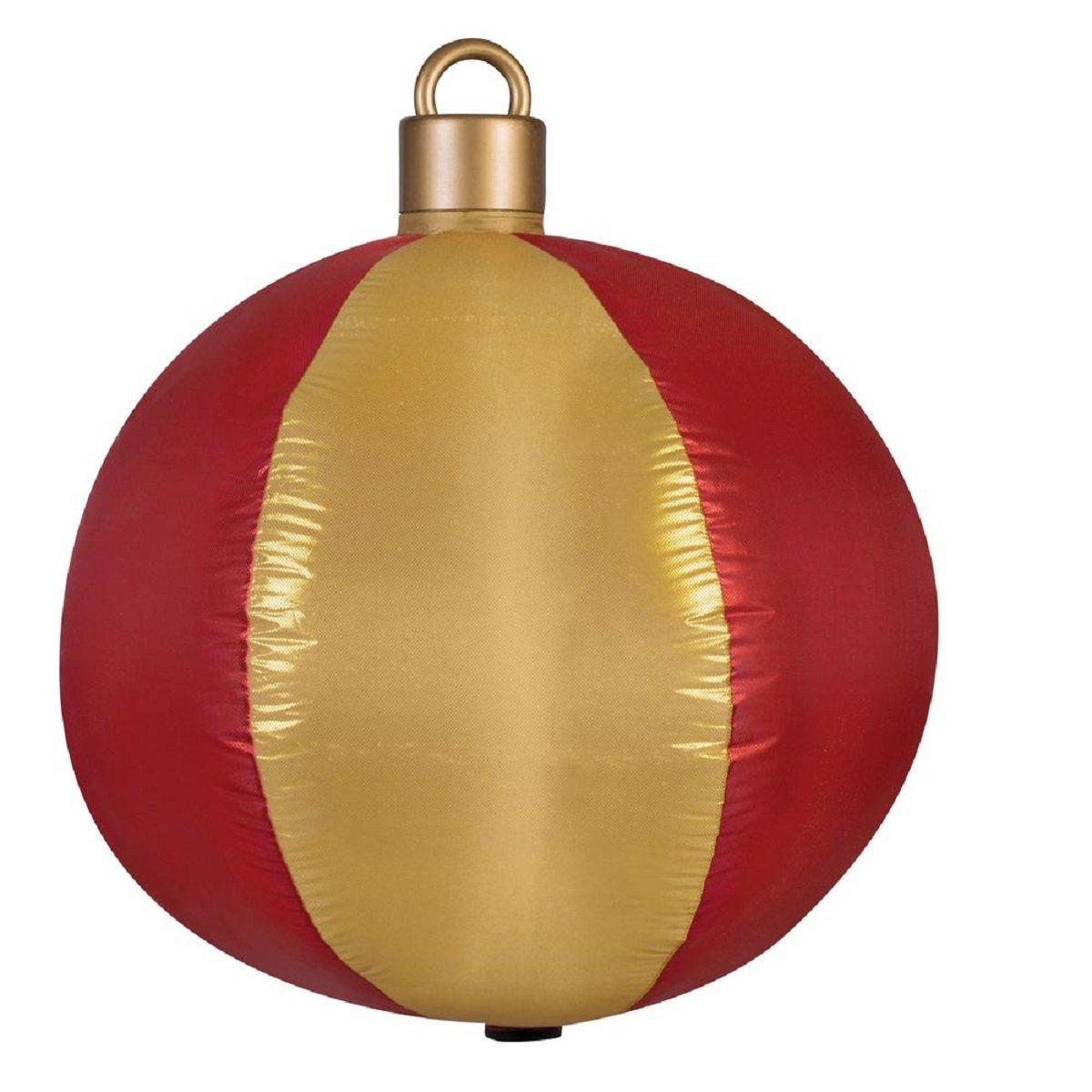 Amazon.com: Adorno para árbol de Navidad rojo y dorado ...