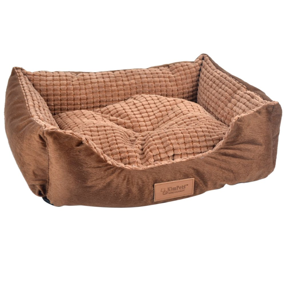 Coffee L Coffee L Quno Pet Bed Dog Sofa Double-sides Soft Warm Indoor Cat Pad Nest Coffee L