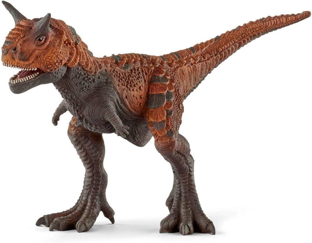 Schleich - Figura dinosaurio Carnotaurio, Color marrón, 13cm
