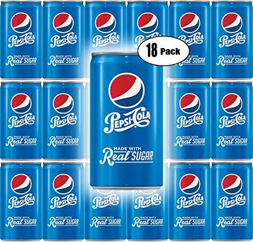 (Pepsi Real Sugar, 7.5 Fl Oz Mini Can (Pack of 18, Total of 135 Oz))