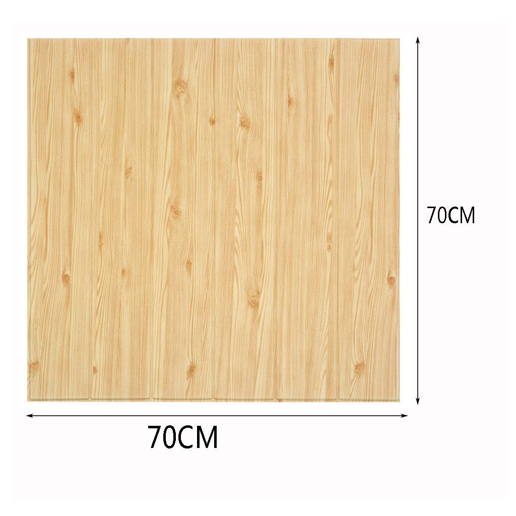 K/&F-qianzhi Panel De Pared 3D Imitaci/ón De Madera Grano Revestimiento Ladrillo Panel De Fondo Panel De La Sala De Estar Cocina Cocina Decoraci/ón De La Pared 10 Paquetes